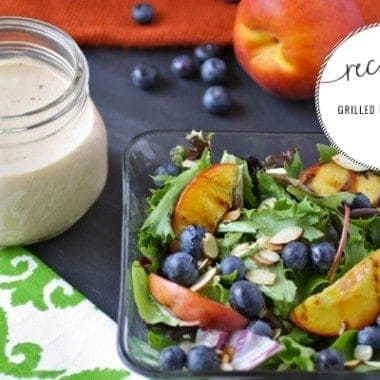 Grilled Peach Salad + Goat Cheese Dressing