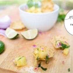 Fresh pineapple salsa + how to cut a pineapple