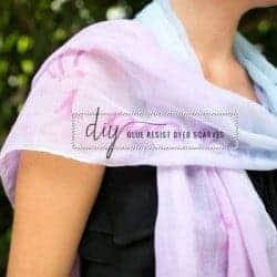 Glue resist dyed scarves
