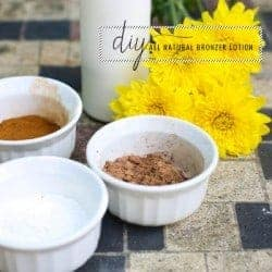 All natural DIY bronzer lotion