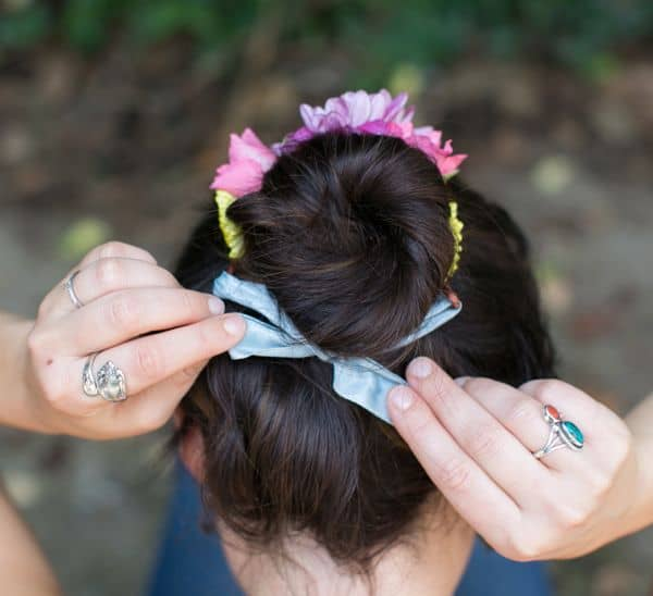 flower-bun-wrap-tie-ribbon