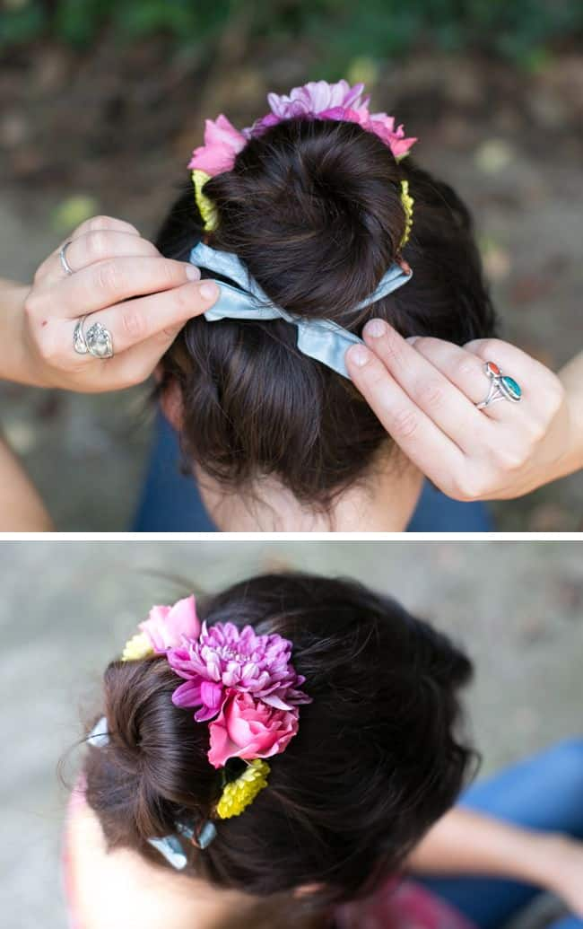 DIY Flower Bun Wrap | Hello Glow