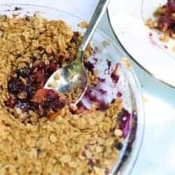 The Fastest, Tastiest Berry Crumble