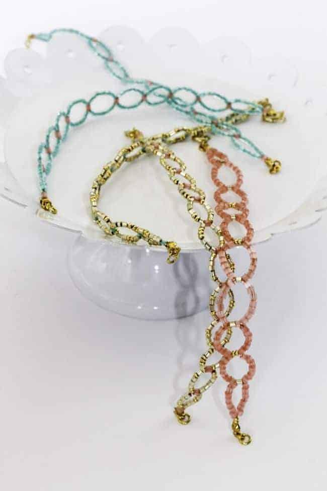 DIY Seed Bead Circle Bracelet | Hello Glow