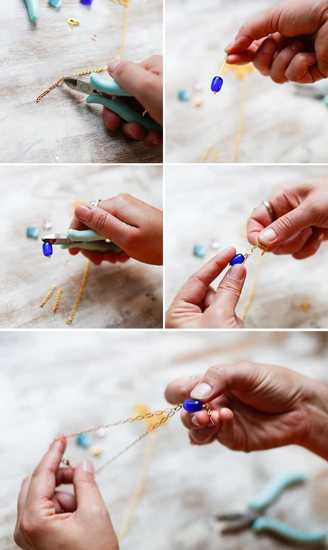 Easy Bead DIY Ankle Bracelet | HelloGlow.co