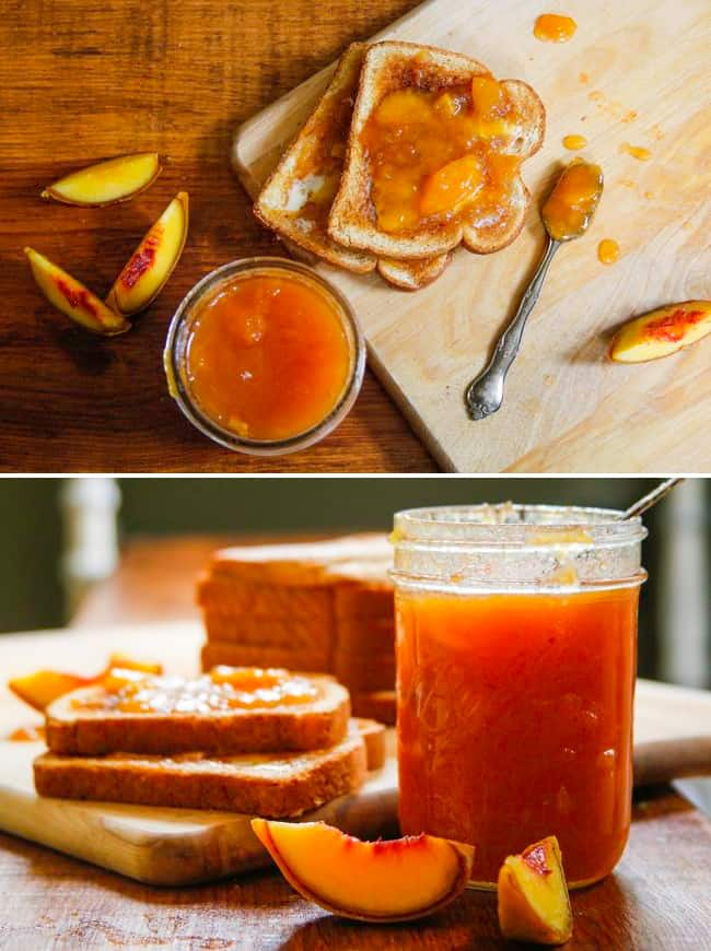 Homemade peach jam | Hello Glow