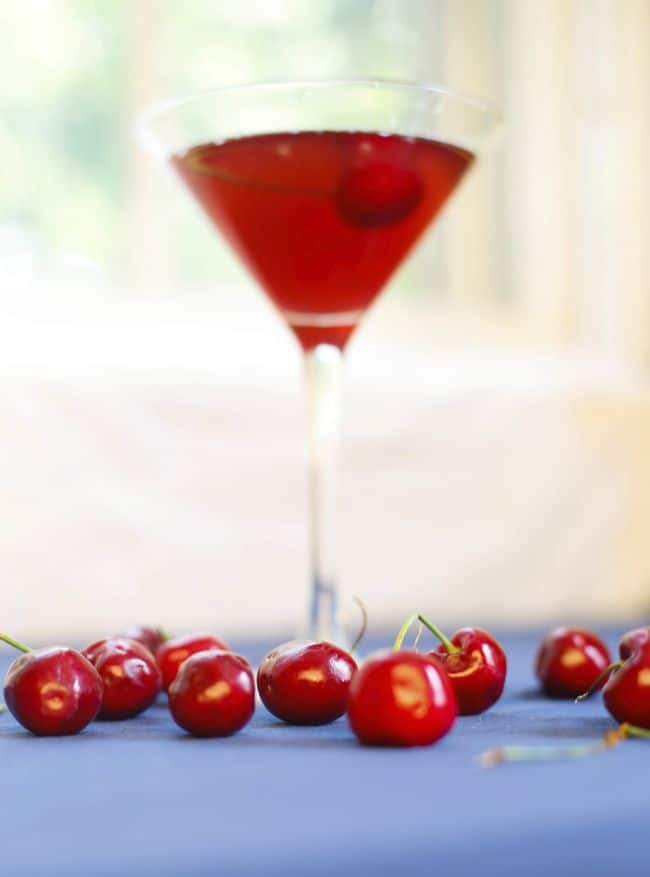 Bourbon Old Fashion with Homemade Cherry Syrup | Hello Glow