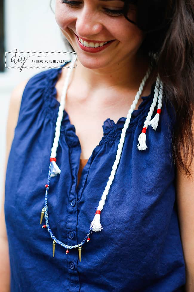 DIY Anthropologie Rope Necklace   Henry Happened