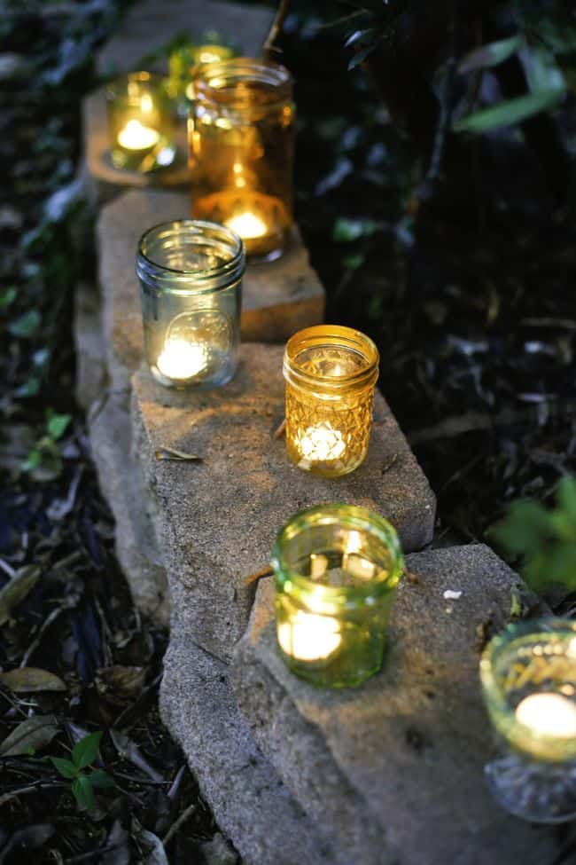 DIY Painted Glass Votives | Hello Glow