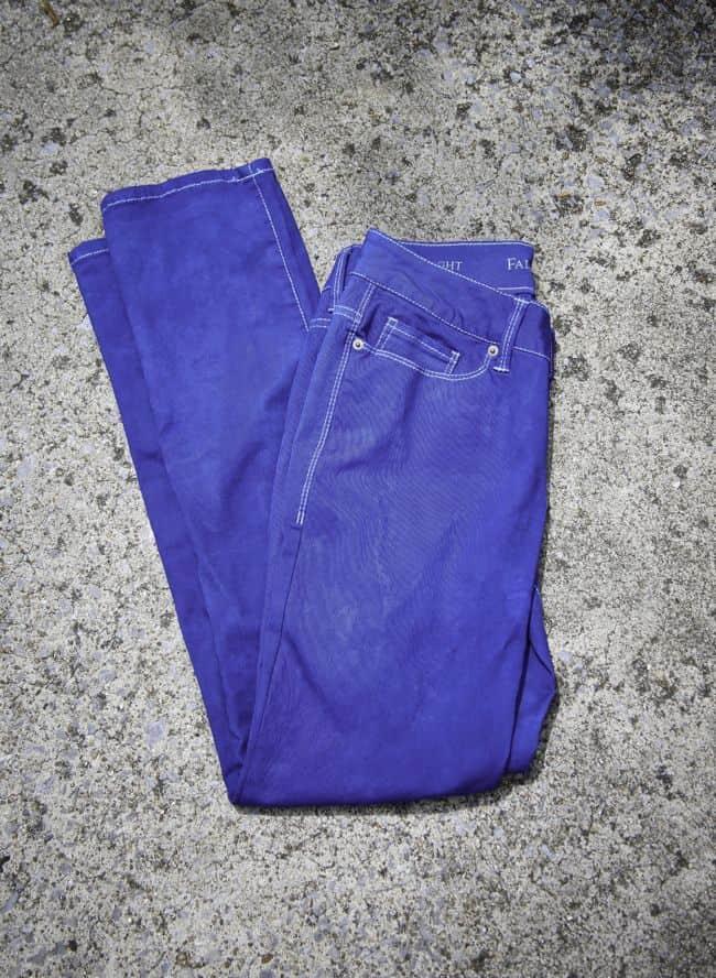 DIY Indigo Dyed Jeans | Hello Glow