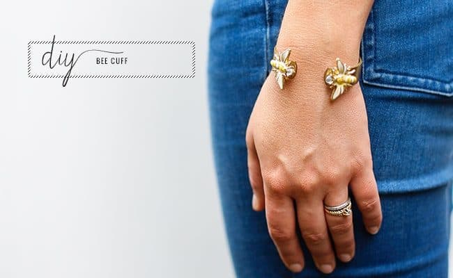 Make Your Own Trendy Bee Cuff (+ Tips on Working with Enamel)