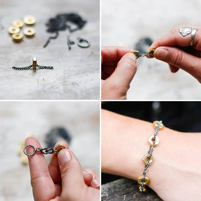 DIY Marc Jacobs Hex Nut Bracelet | HelloGlow.co