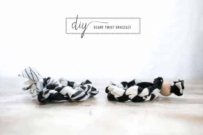 5 Minute DIY Scarf Twist Bracelet
