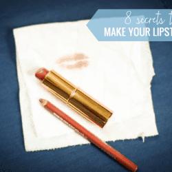 8 Secrets to Make Lipstick Last