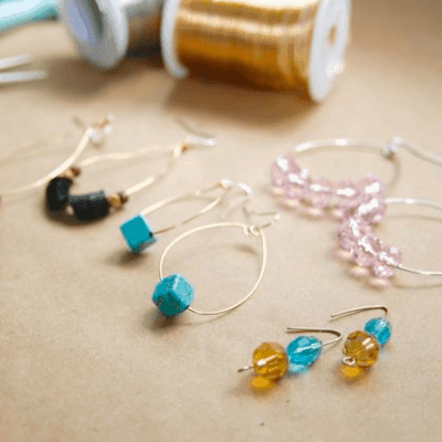 DIY Hoop earrings