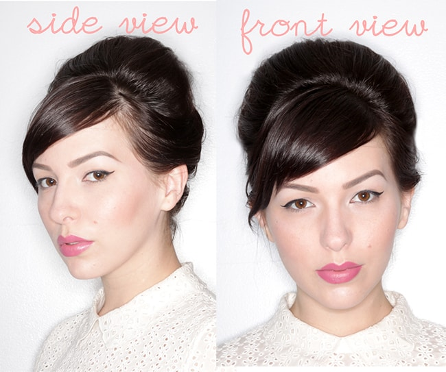 Faux Updo Tutorial for Short Hair by Keiko Lynn