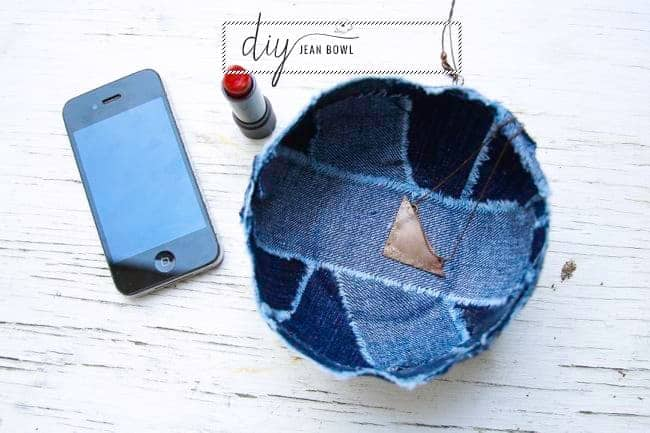 Recycled jean DIY Bowl | Henry Happened