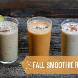 3 Healthy Recipes for Fall Smoothies