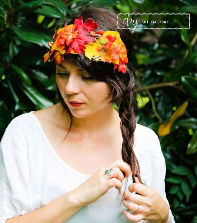 DIY Fall Leaf Crown | Hello Glow