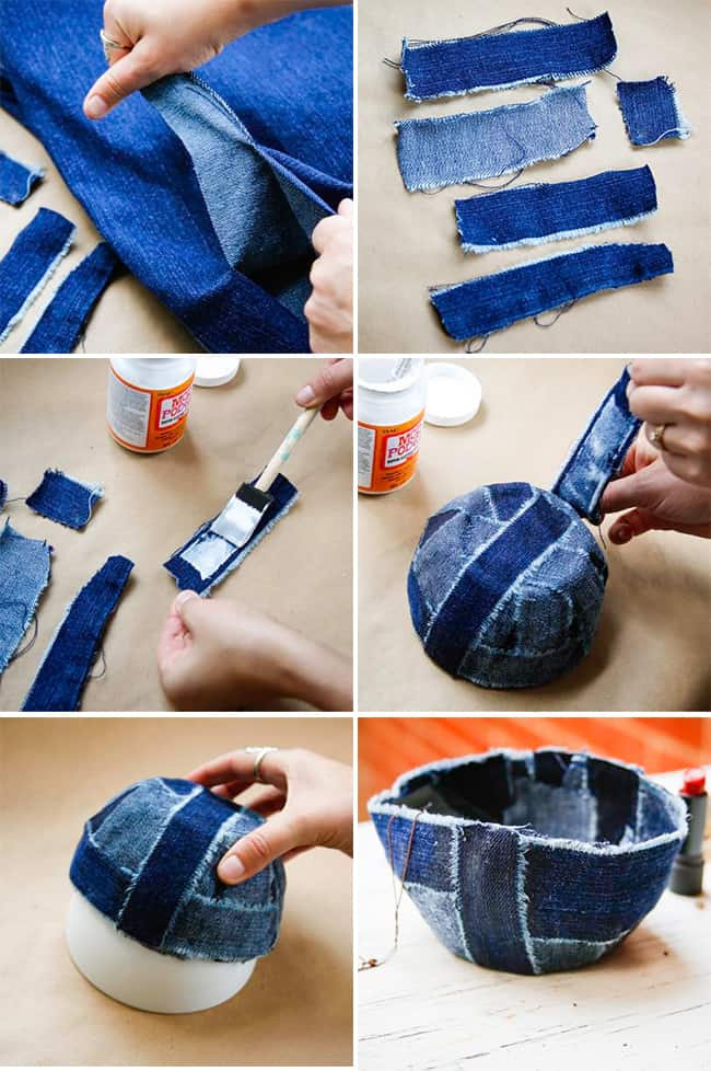 Recycle Jeans into a Bowl | Henry Happened