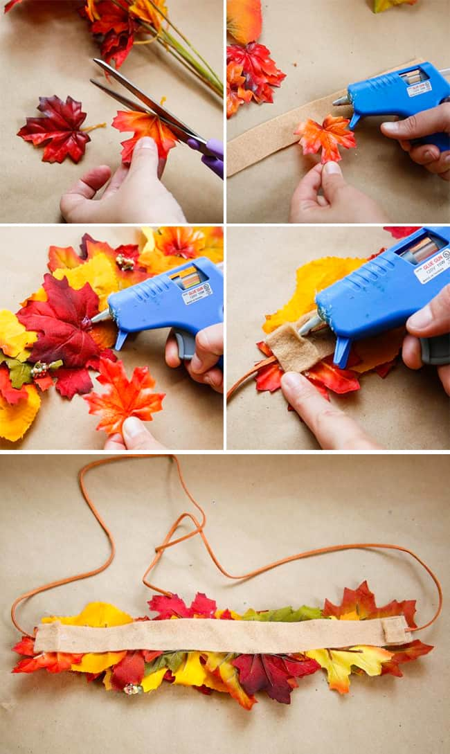 DIY Leaf Crown for Fall | Hello Glow