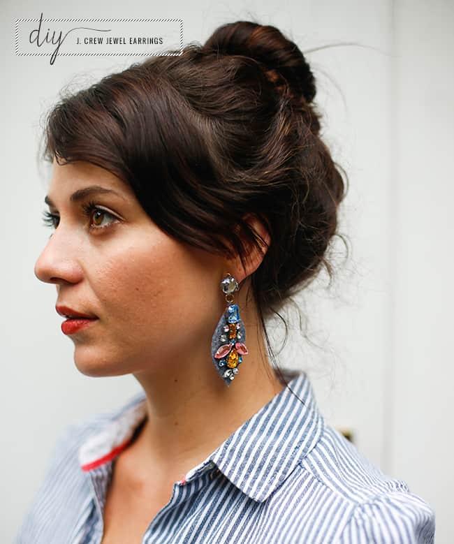 DIY J. Crew Jewel Earrings