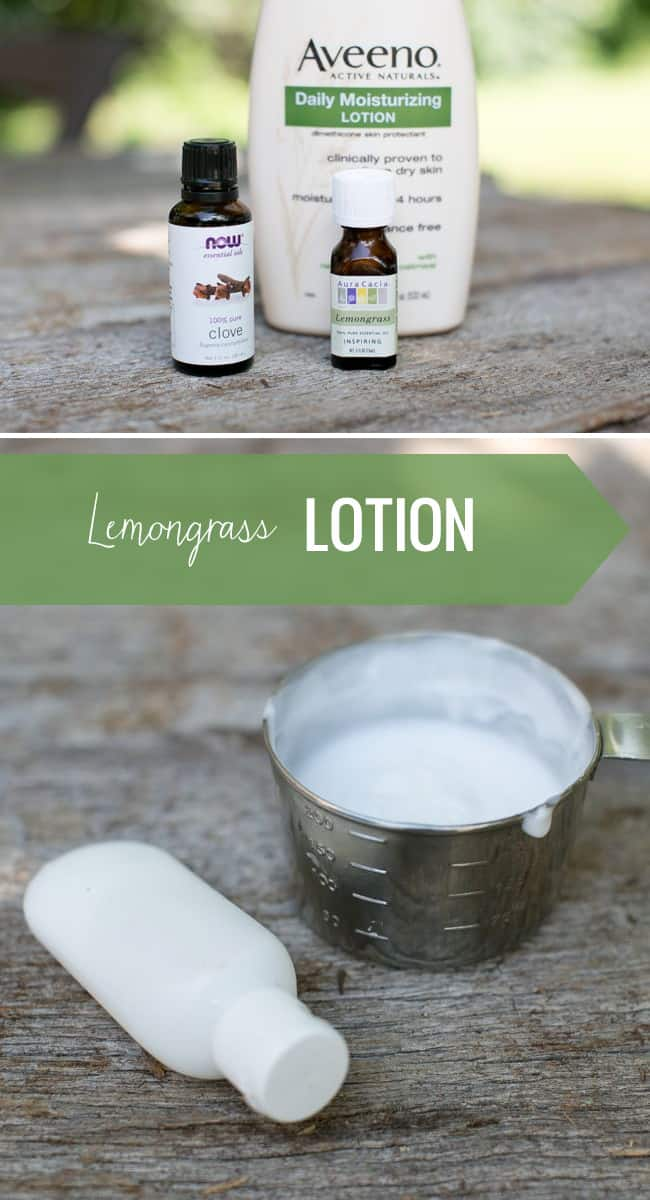 Lemongrass lotion | 3 Ways to Repel Bugs Naturally