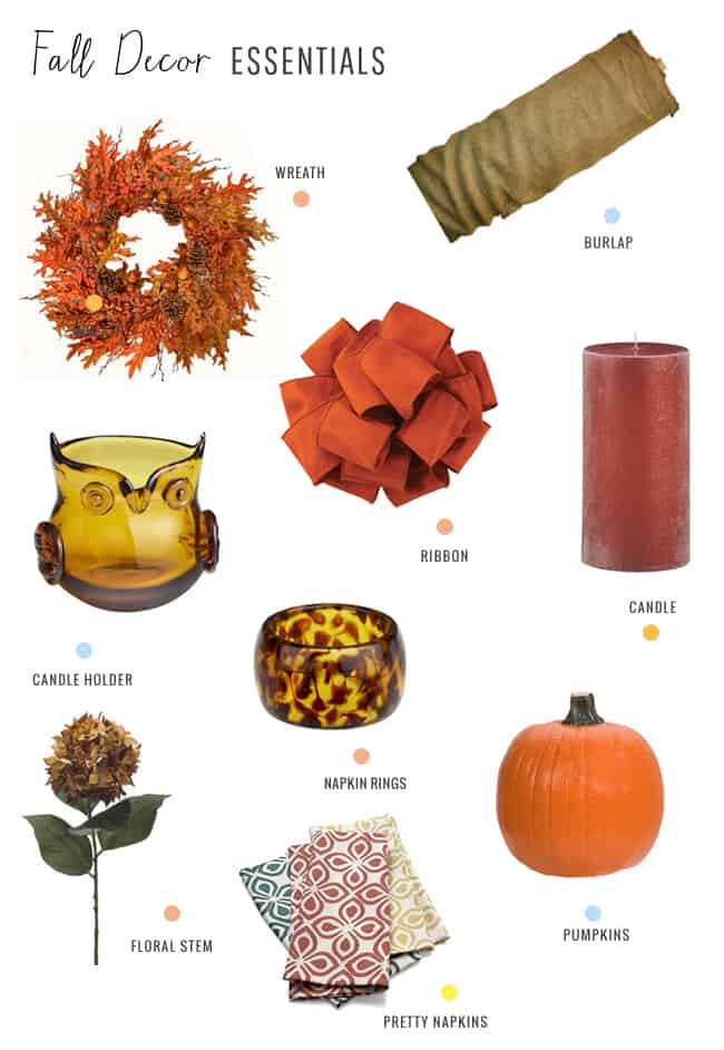 fall decor essentials