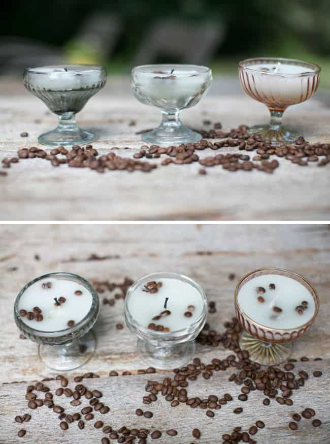 Vanilla Coffee DIY Candles | HelloGlow.co