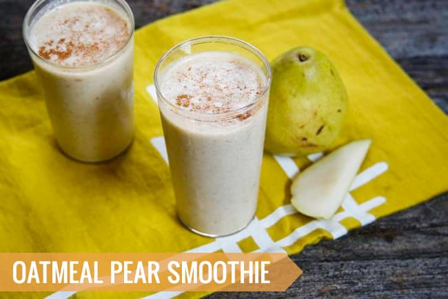 Oatmeal Pear Smoothie | 3 Healthy Fall Smoothie Recipes | HelloGlow.co
