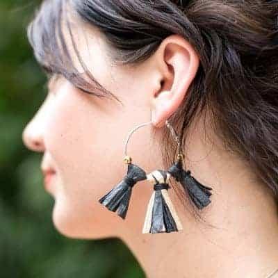 DIY Raffia Earrings