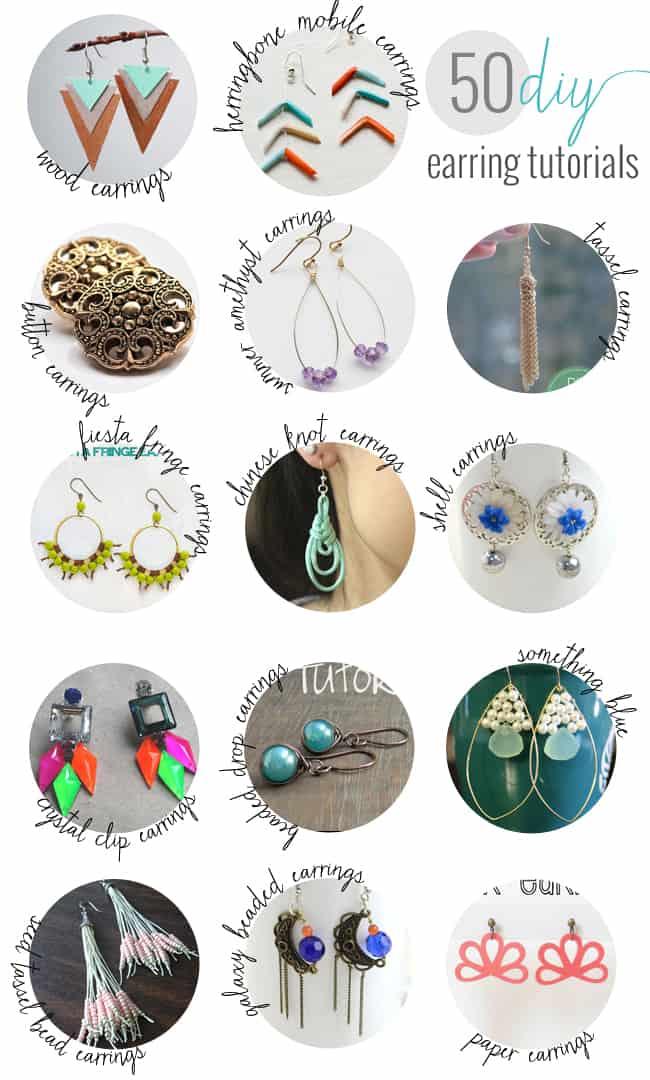 50 DIY Earrings   HelloGlow.co