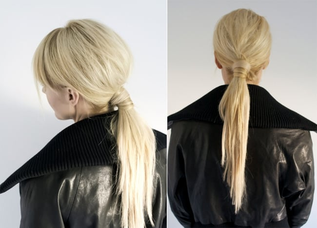 25 no fail easy updos helloglow wrapped ponytail 25 easy updos helloglow urmus Images