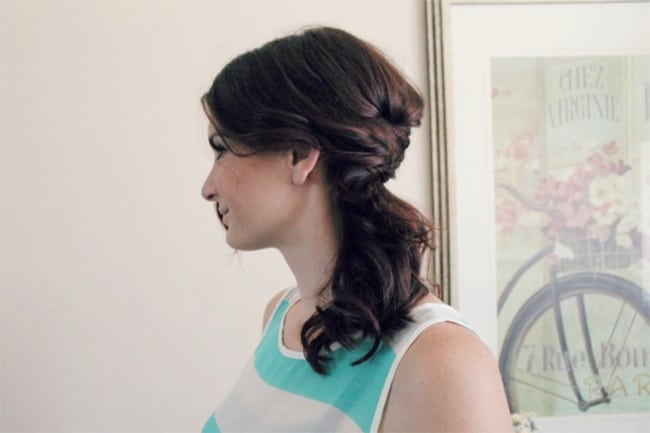 Half Braid | 25 Easy Updos | HelloGlow.co