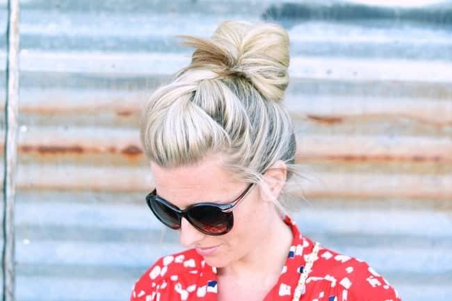 French braid bun | 25 Easy Updos | HelloGlow.co