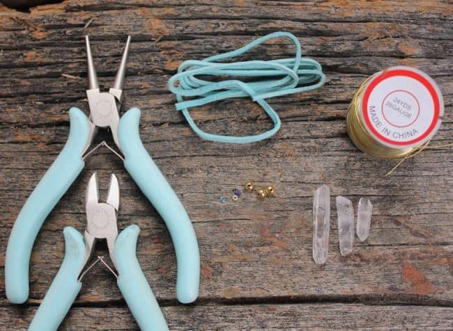 DIY Bracelet Rough Cut Crystals | Hello Glow
