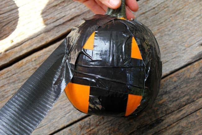 DIY Duct Tape Bat Pumpkins | Hello Glow