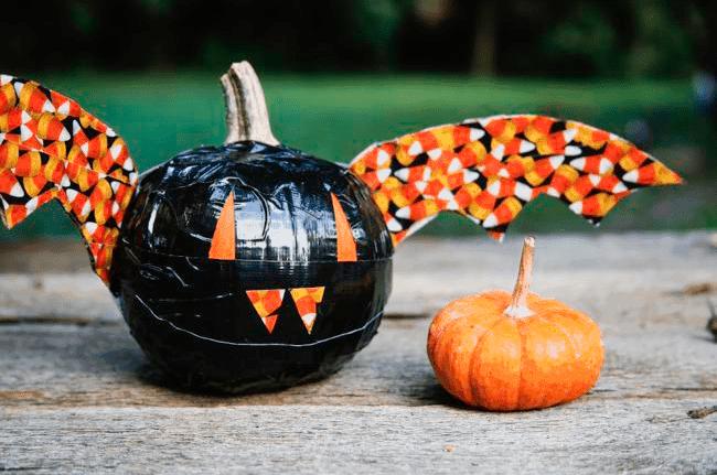 DIY Bat Pumpkin
