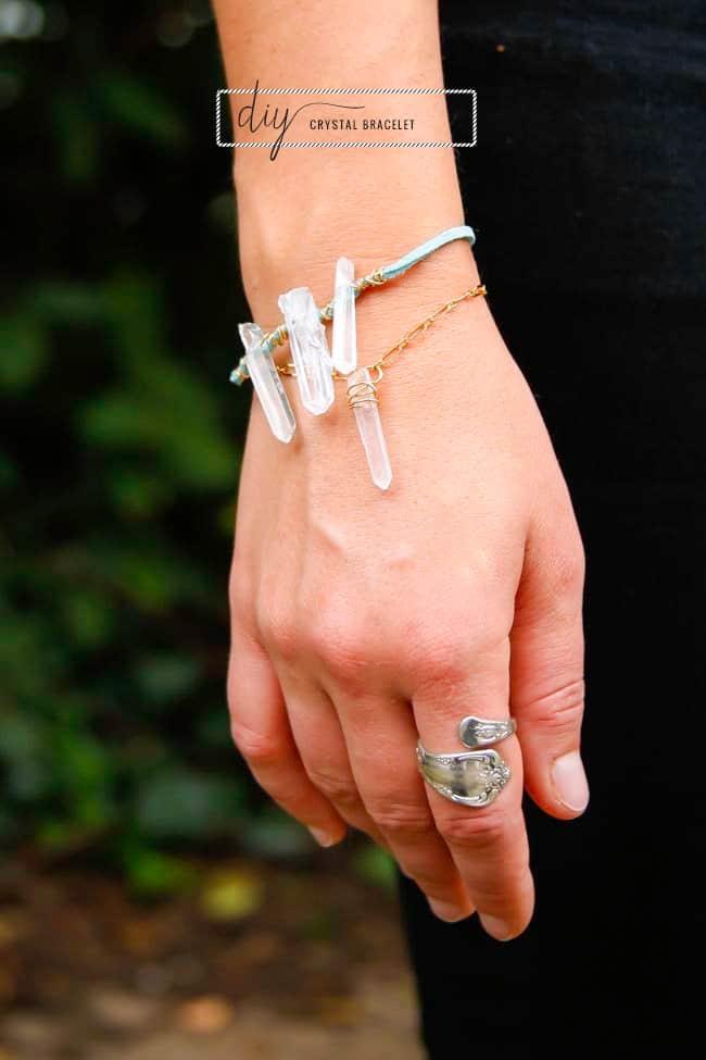 DIY Crystal Bracelet | Hello Glow