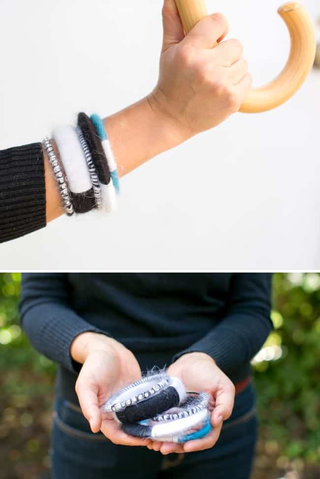 DIY Angora Wrapped Bracelets   Henry Happened