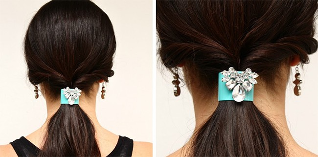Elegant low ponytail   25 Easy Updos   HelloGlow.co