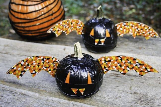 DIY Bat Pumpkins