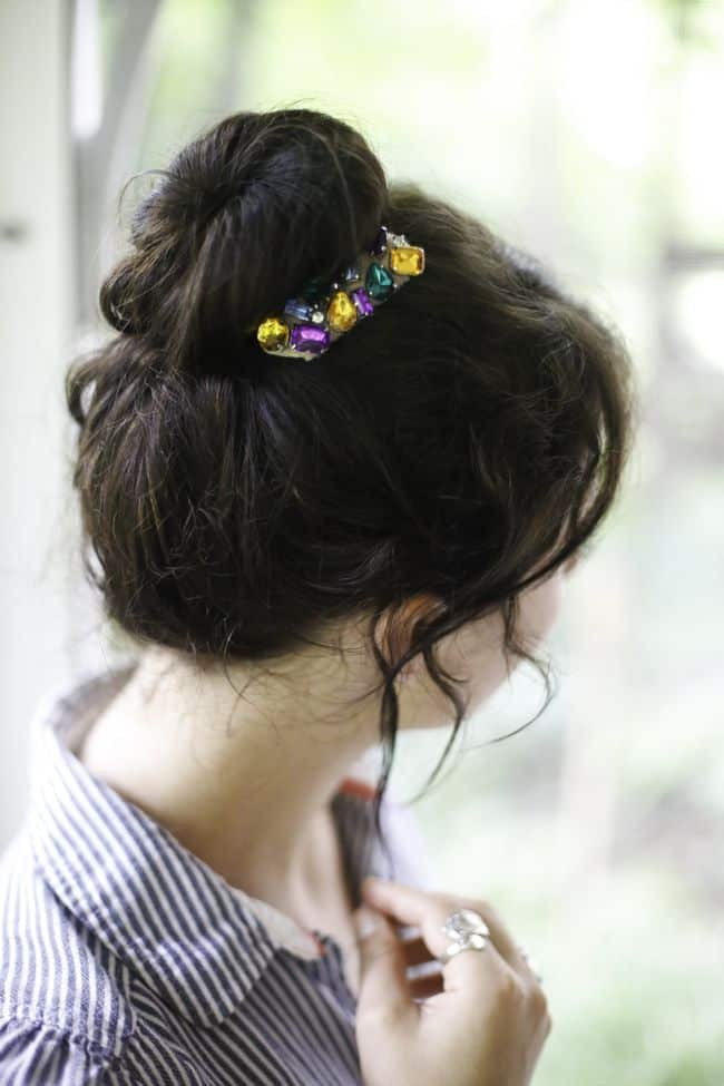 DIY Hair Combs with Jewels | Hello Glow