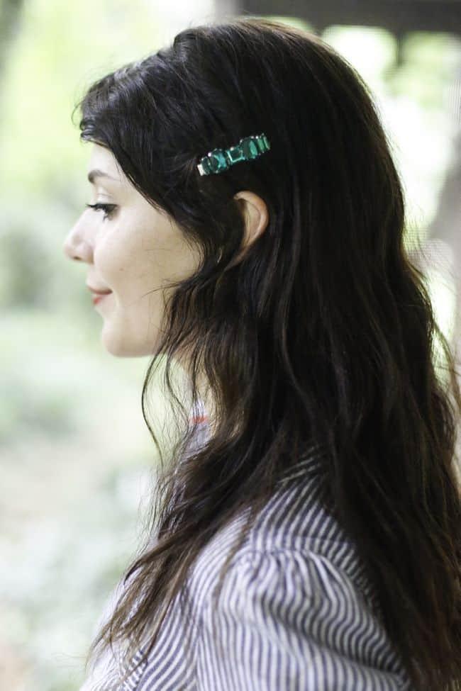 Emerald Hair Clip | Hello Glow