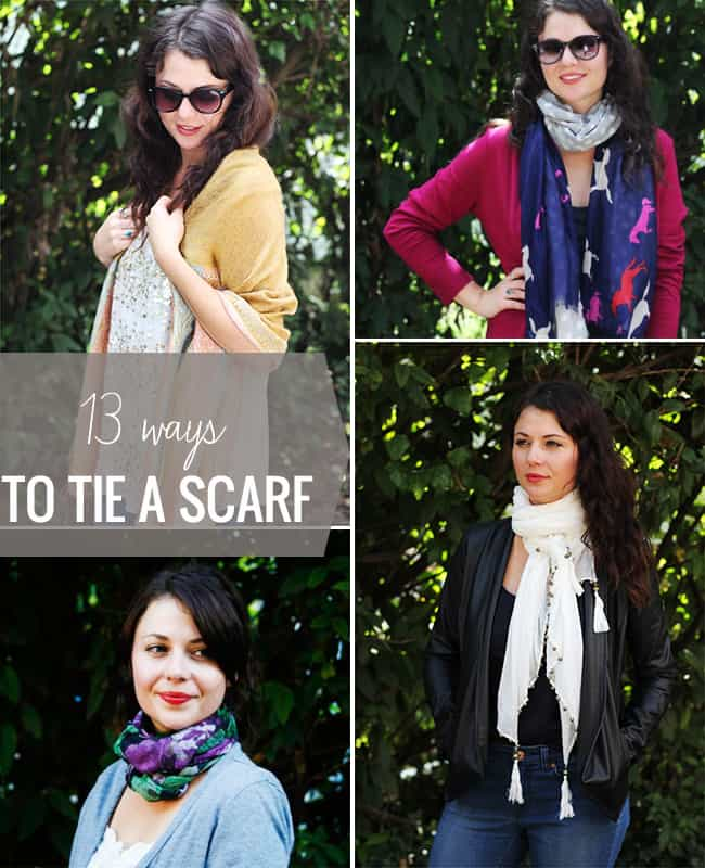 13 super stylish ways to tie a scarf different ways of tying a scarf 13 ways to tie a scarf helloglow ccuart Choice Image