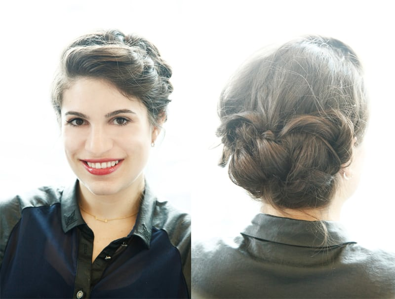 Knotted Updo | 25 Easy Updos | HelloGlow.co