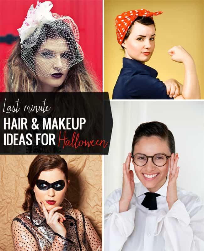 25 Last Minute Hair + Make Up Ideas for Halloween - Last Minute Costume Makeup