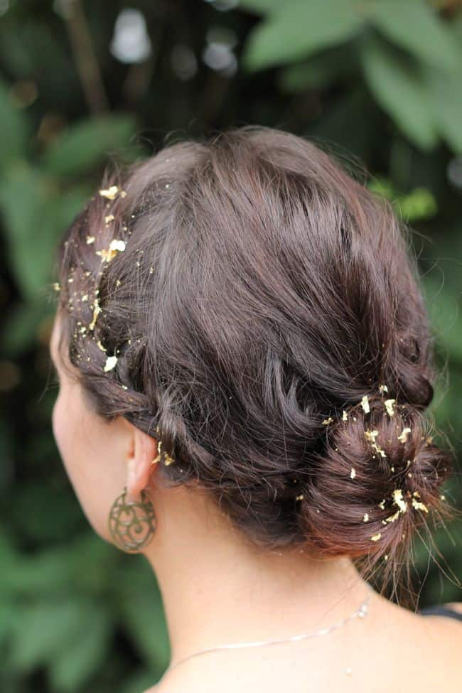 Gold Leaf Hair | 25 Easy Updos | HelloGlow.co