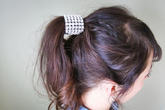 Ponytail Hair Wrap | 25 Easy Updos | HelloGlow.co