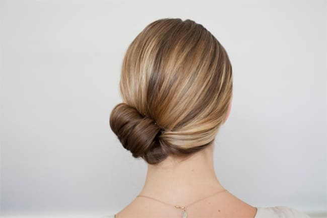 Side Bun | 25 Easy Updos | HelloGlow.co